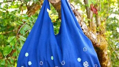 taška z trika bez šití