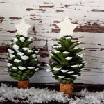Vánoční stromečky z šišek