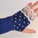 Bezprstové rukavice z ponožek- foto návod