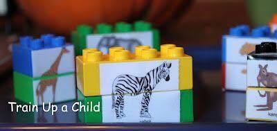 puzzle a zvířátka kreativní učení