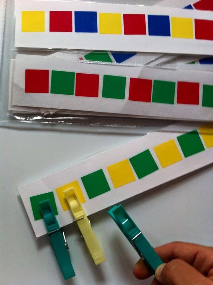 kolíček na správnou barvu