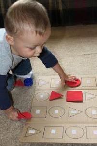 tvary předmětů děti