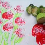 Tvořte potisky pomocí zeleniny!