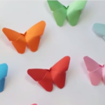 3D papírový motýl- video návod