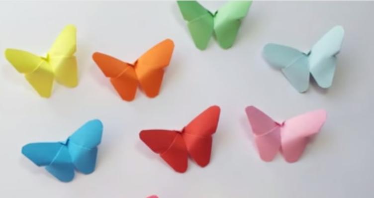 کاردستی مسواک با مقوا 3D papírový motýl- video návod   Dům Nápadů