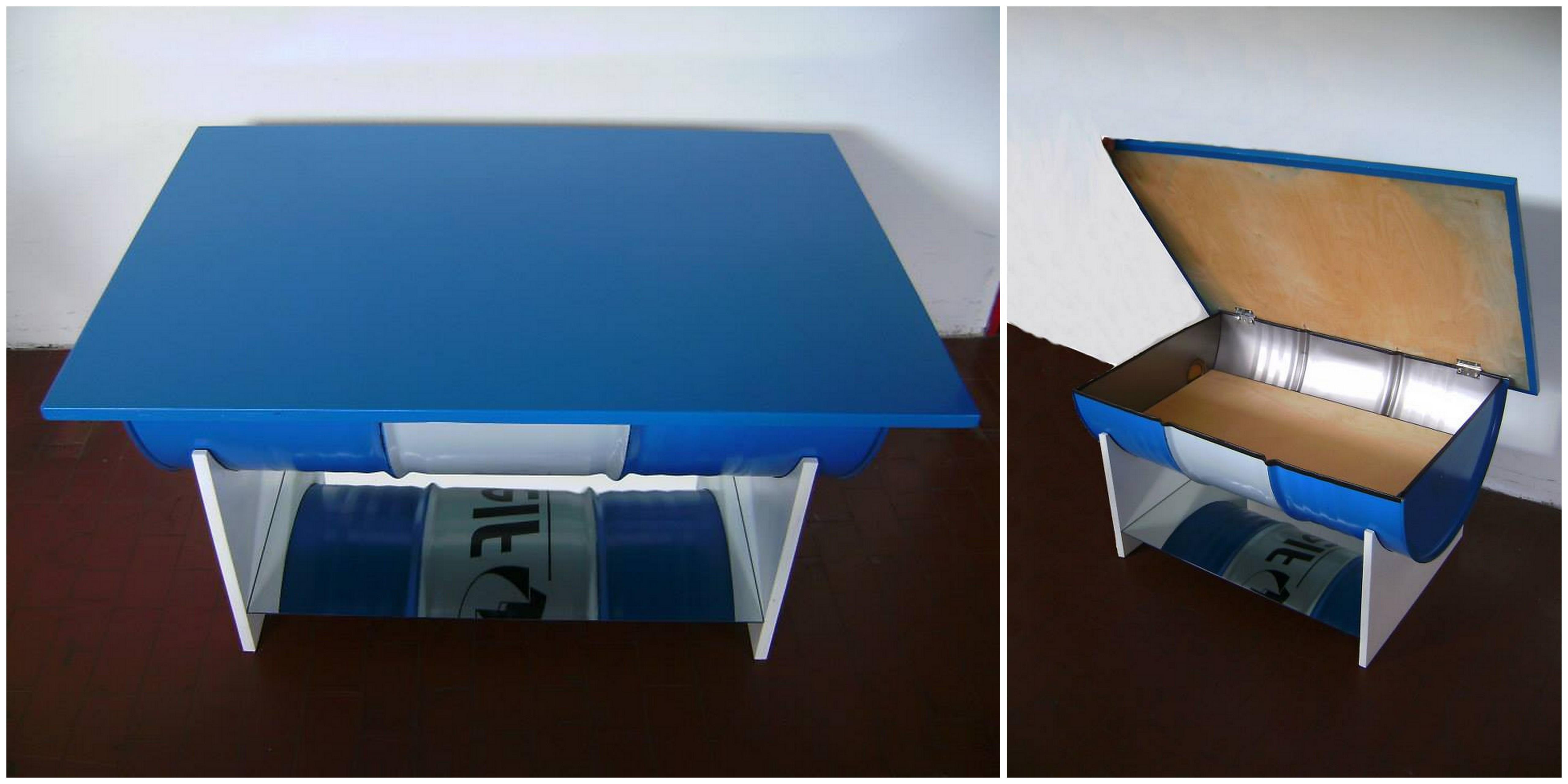 4.3 Modrý s úložným prostorem do obývacího pokoje.