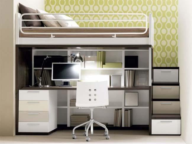 Kancelář, kterou můžete mít přímo pod postelí.