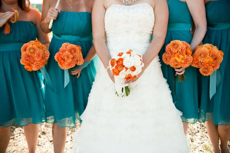 3.2 Kytice v oranžové barvě. Zdroj: theeverylastdetail.com