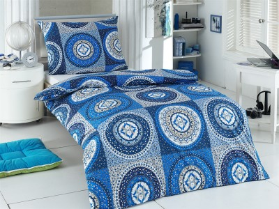 Bavlněné povlečení - modrobílé mandaly