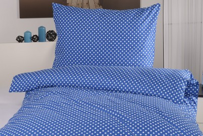 Bavlněné povlečení - modré s puntíky