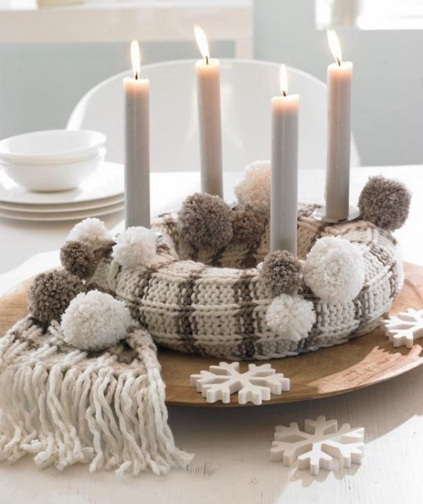 knitted-scarf-diy-advent-wreath-ideas-natural-colors
