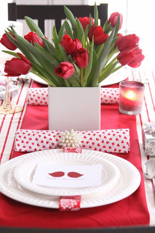 valentýnský stůl