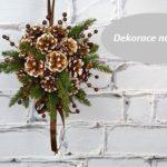Nejen vánoční dekorace na dveře
